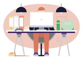 Vector Designer's Desktop Illustration