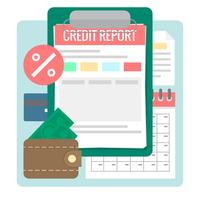 Credit Report vector