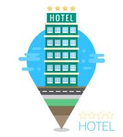 Flat Hotel Illustration