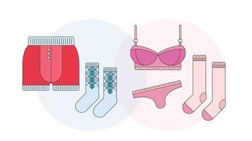 Unterwäsche-Vektor