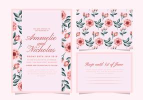 Invitación floral de la boda del vector
