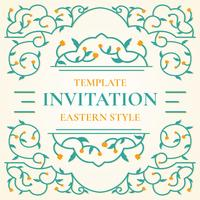 Islamic Style Invitation Template Vector