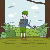 Little Nature Explorer Vector