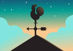 Weather Vane Vector Illustration