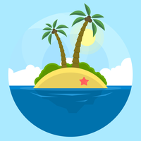 Paisaje de playa vector