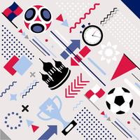 Vektor-Fußball-Weltmeisterschaft Memphis Pattern Background