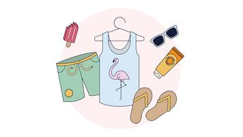 Zomer Items Vector