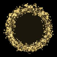 Gold stars and glitter background  vector