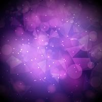 Bokeh lights background with mesh design vector