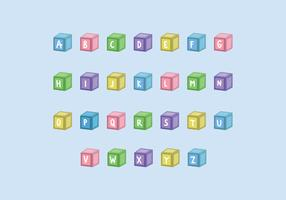Children Cubes With Letters