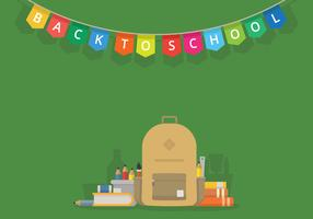 First Day Back To School Illustration for Kids or Student