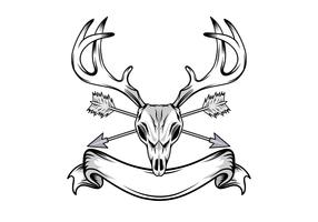 Deer Skull Illustration