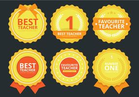 Teacher Rewards Sticker Set, Badge and Emblem Set