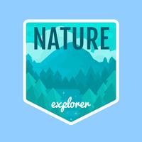 Insigne d'illustration Nature Explorer