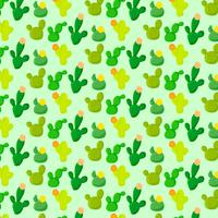 Vector Colorful Seamless Cacti Pattern