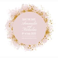 Vector Watercolor Save the Date Template