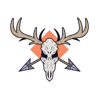 Vecteur de crâne de cerf