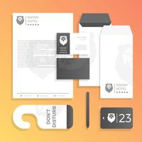 Flat Luxury Hotel Corporate Identity Template