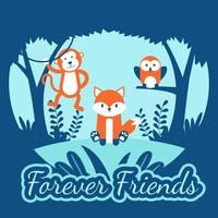Forever Friends Animals Vector