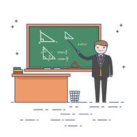 Math Teacher Vector