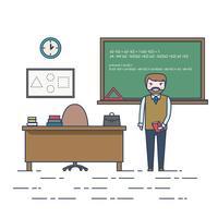 Ilustración del maestro de matemáticas