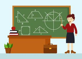 Mathematics Teacher Vector