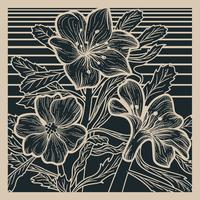 Flor del desierto Linocut