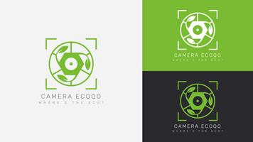 Vacker Fotograf Logo Vektorer
