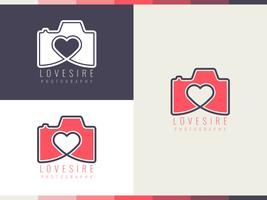 Mooie fotograaf logo vectoren