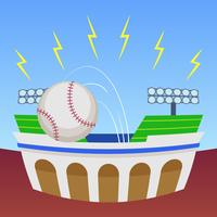 Uitstekende honkbalparkvectoren