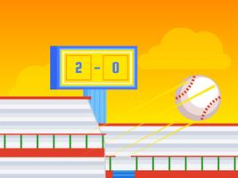 Vetores proeminentes do parque de basebol
