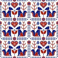 Scandinavian Folk Pattern Seamless