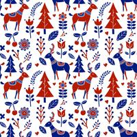 Scandinavian Folk Pattern Vector