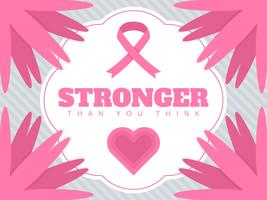Beautiful Breast Cancer Awareness Social Media Vectors