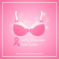 Breast Cancer Awareness Social Media Vector