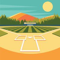 Disegno vettoriale di baseball Park