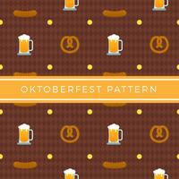 Flacher Oktoberfest-Element-Muster-Vektor