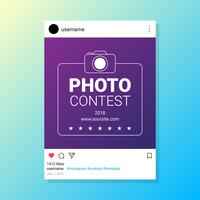 Photo Contest Instagram Mall för Socia Media