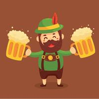 Glad Man In Lederhosen Vector
