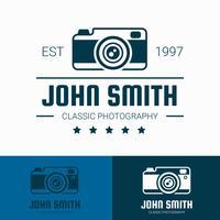 Vecteur de modèle de logo photographe