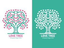 Unique Tree Logo Elements Vectors