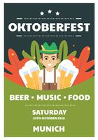 Oktoberfest-Vektor-Design vektor
