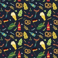 Oktoberfest sömlös mönster vektor