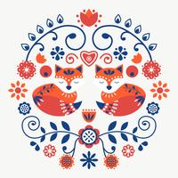 Scandinavian Folk Art Vector
