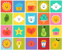 cute colorful icons