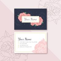 Feminine Name Card vector