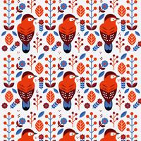 Escandinavo Folk Pattern Vector