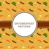 Platte Oktoberfest Element patroon Vector
