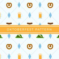 Flat Oktoberfest Element Pattern Vector