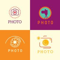 Photographer logo vector